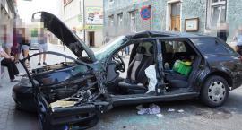 Zderzenie traktora z autem osobowym w Łobżenicy[WIDEO]