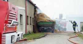 Pożar budynku gospodarskiego w Chlebnie[WIDEO]