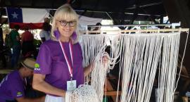 Jolanta Surma na IV Światowym Festiwalu Wikliny i Plecionkarstwa w Nowym Tomyślu