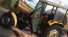 Zderzenie traktora z osobówką