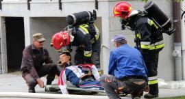 Ćwiczenia strażaków w złotowskim szpitalu