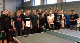 Zawody tenisa stołowego w I LO w Złotowie