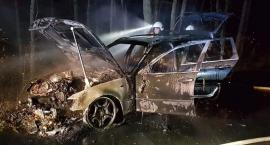 Pożar samochodu osobowego na odcinku Jastrowie-Pniewo