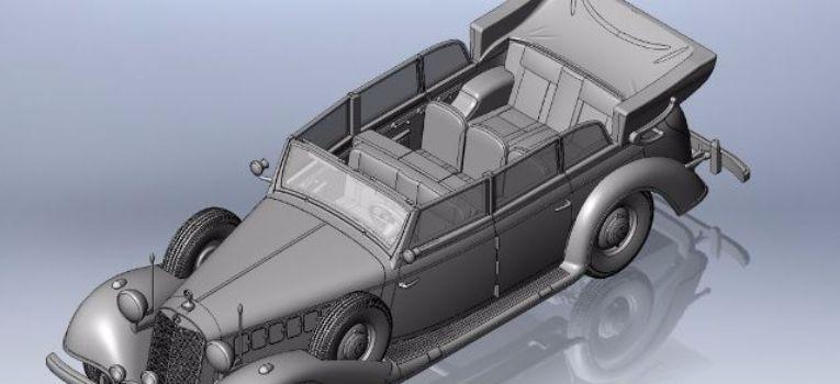 Modele samochodów, Nazistowska limuzyna skali - zdjęcie, fotografia