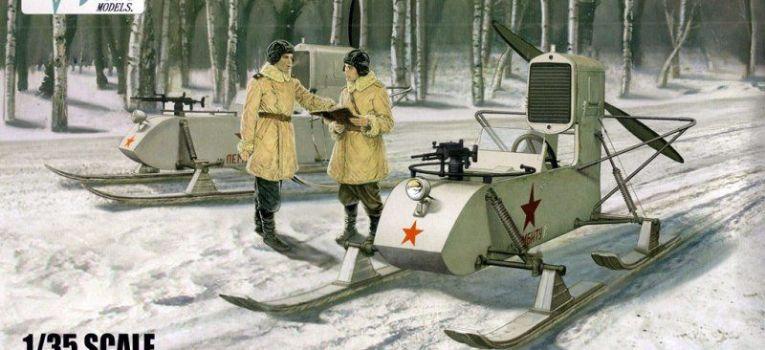 Modele samochodów, Sowieckie aerosanie skali - zdjęcie, fotografia