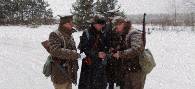 Imprezy historyczne, Zimowe zajęcia topograficzne styczeń - zdjęcie, fotografia