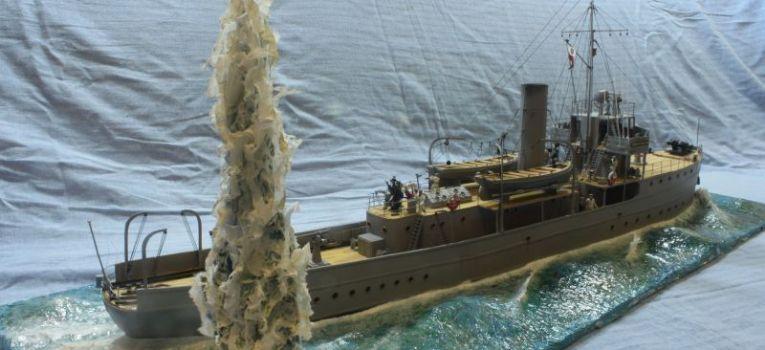 Modele okrętów, Kanonierka Generał Haller model podstaw skala - zdjęcie, fotografia