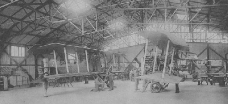 Lotnictwo samoloty , Hangar Bessonneau - zdjęcie, fotografia