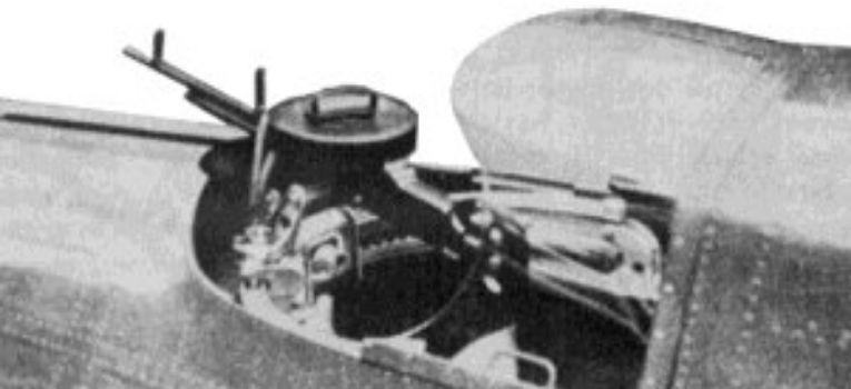 Lotnictwo samoloty , Szczeniak lekki karabin maszynowy - zdjęcie, fotografia