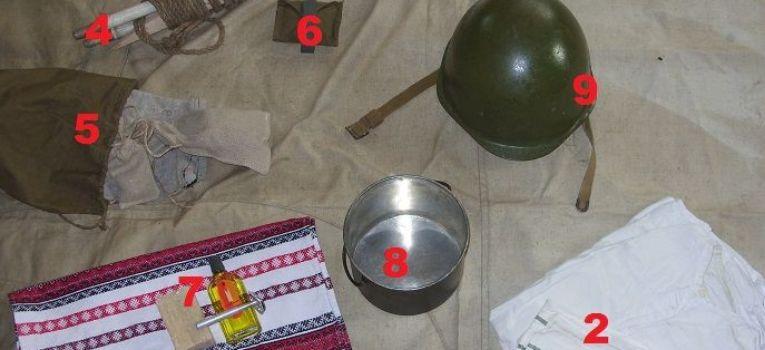 Regulaminy instrukcje wojskowe, Pakowanie radzieckiego workoplecaka według instrukcji 1941r - zdjęcie, fotografia