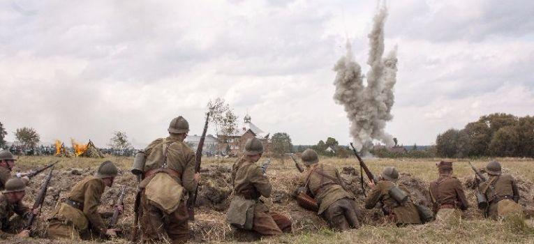 Imprezy historyczne, Inscenizacja bitwy Mokrą - zdjęcie, fotografia