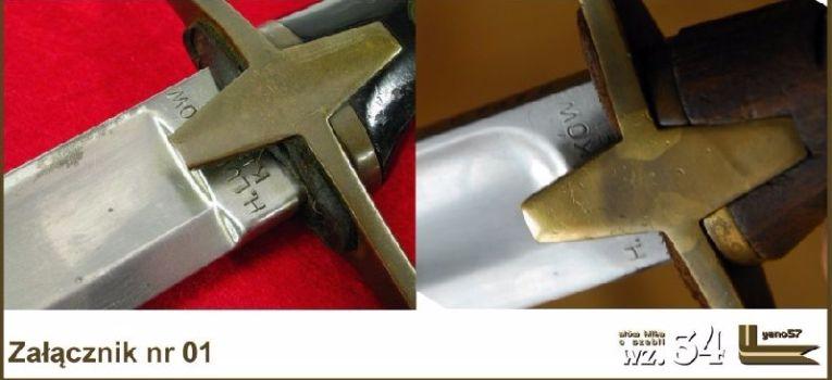 Broń biała, Szabla oznaczenia głowni - zdjęcie, fotografia