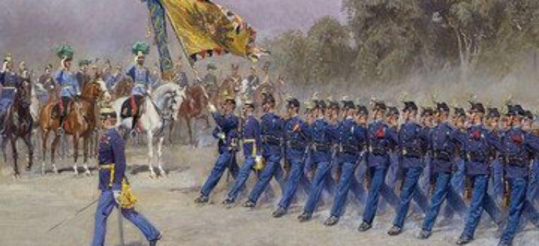 Regulaminy instrukcje wojskowe, Egzercyrka armii - zdjęcie, fotografia