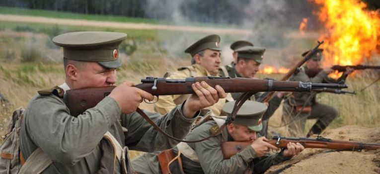 Imprezy historyczne, lecie przerwania frontu wschodniego Jednorożcem - zdjęcie, fotografia