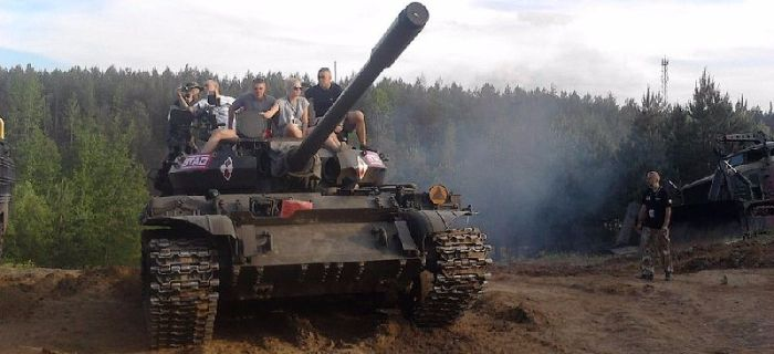 Imprezy historyczne, Podlaski Piknik Militarny finiszu - zdjęcie, fotografia