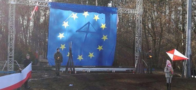 Imprezy historyczne, Flaga Europejskiej Olszynką Grochowską - zdjęcie, fotografia