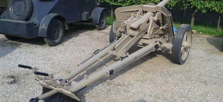 Artyleria, Armata przeciwpancerna renowacji - zdjęcie, fotografia
