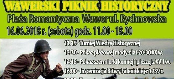 Rekonstrukcje, Wawerski Piknik historyczny Sobota czerwca Plaża Romantyczna Rekonstrukcja Wrzesień - zdjęcie, fotografia