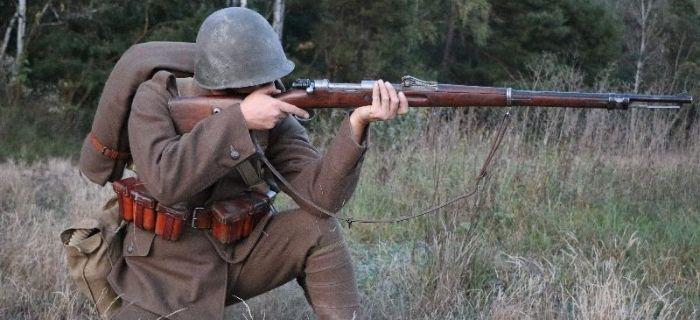 Mundury wojskowe, Strzelec Bitwa Bzurą - zdjęcie, fotografia