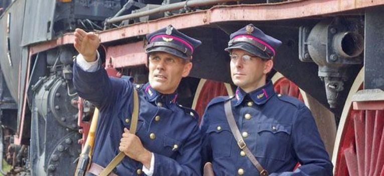 Mundury wojskowe, Kolejowe Wojsko 1949r - zdjęcie, fotografia