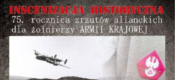 Rekonstrukcje, rocznica zrzutów alianckich - zdjęcie, fotografia