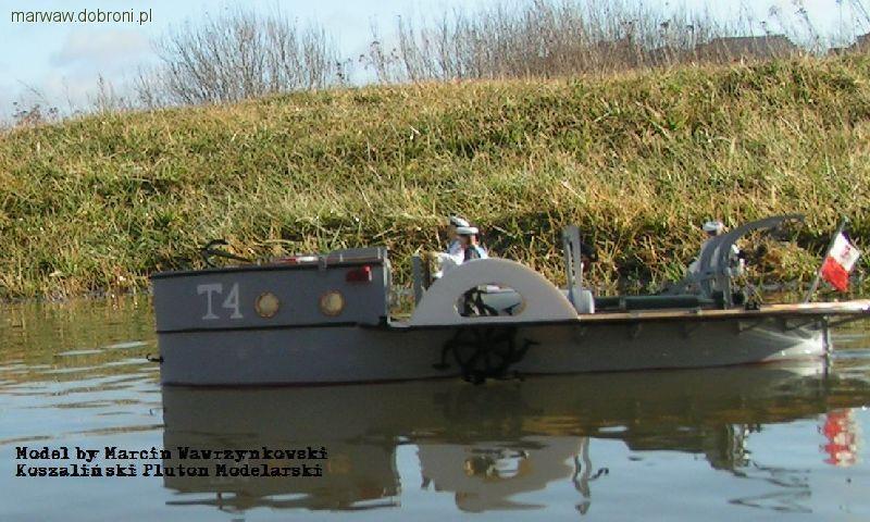 Modele okrętów, Trałowiec rzeczny choroszy Modelbud - zdjęcie, fotografia