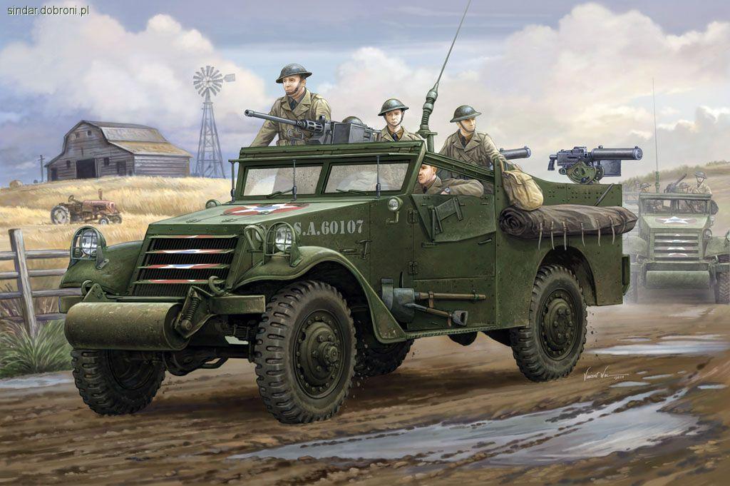 Modele czołgów, White Scout skali - zdjęcie, fotografia