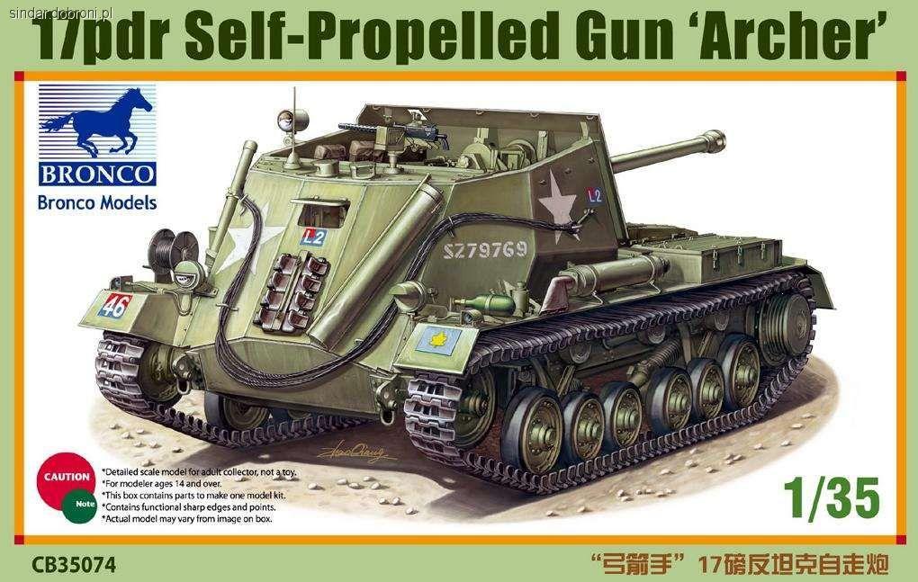 Modele czołgów, Archer skali - zdjęcie, fotografia