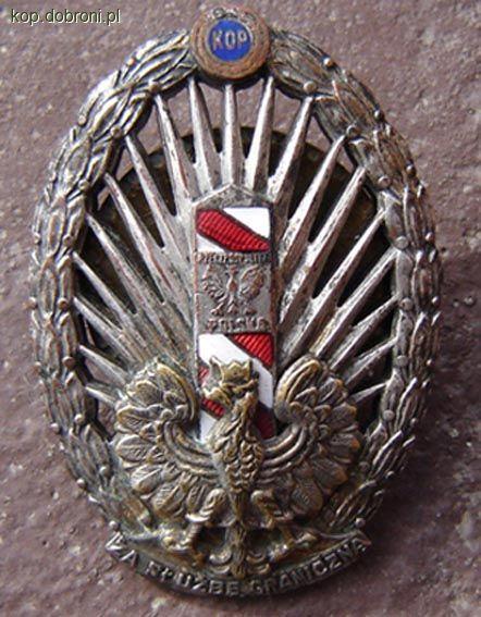 Odznaki wojskowe odznaczenia, Odznaka służbę graniczną - zdjęcie, fotografia