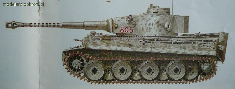 Modele czołgów, Panzerkampfwagen Tiger SdKfz malowanie kamuflaż - zdjęcie, fotografia