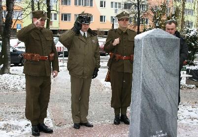 Wspomnienia, rocznicę śmierci bohatera Gruzji Polski - zdjęcie, fotografia