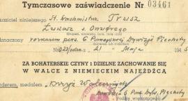 Dokumenty odznaczeniowe i inne pisemne wyrazy uznania w 1 i 2 AWP