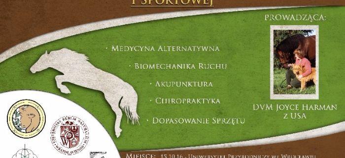 Media jeździeckie, Konferencja Harmonia konia medycynie naturalnej sportowej - zdjęcie, fotografia