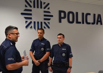 Kronika policyjna, Nagrody policjantów patrol - zdjęcie, fotografia