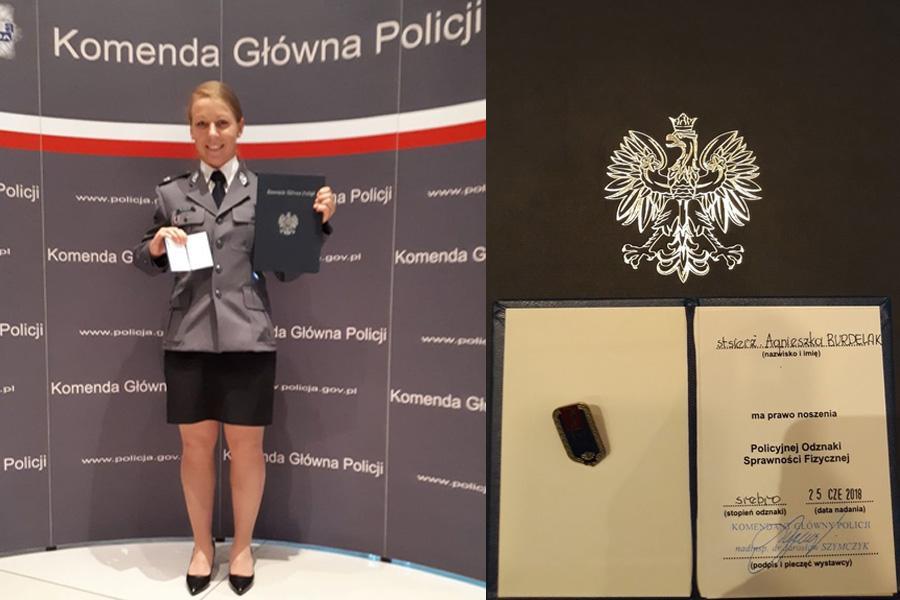 Akcje, Oławska policjantka nagrodą osiągnięcia sportowe - zdjęcie, fotografia