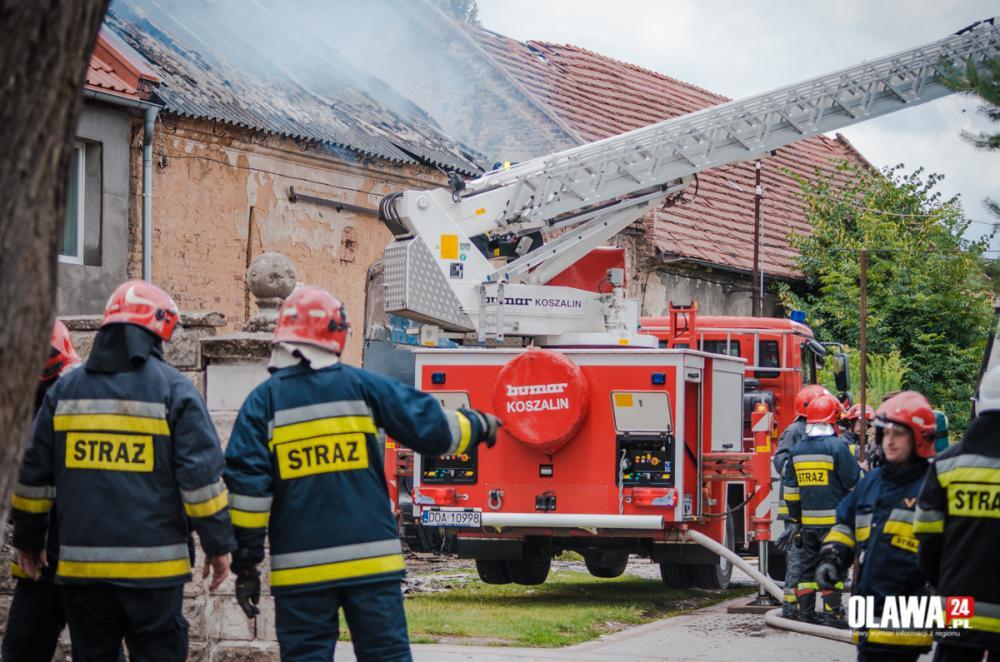 Pożary, Pożar zabudowań Piskorzowie - zdjęcie, fotografia