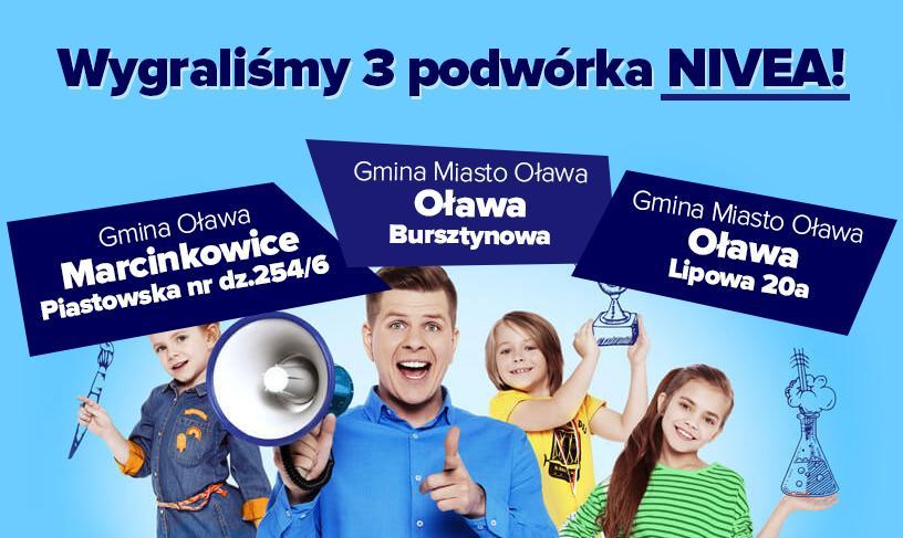 Gmina Oława, Wygraliśmy podwórka Nivea! - zdjęcie, fotografia