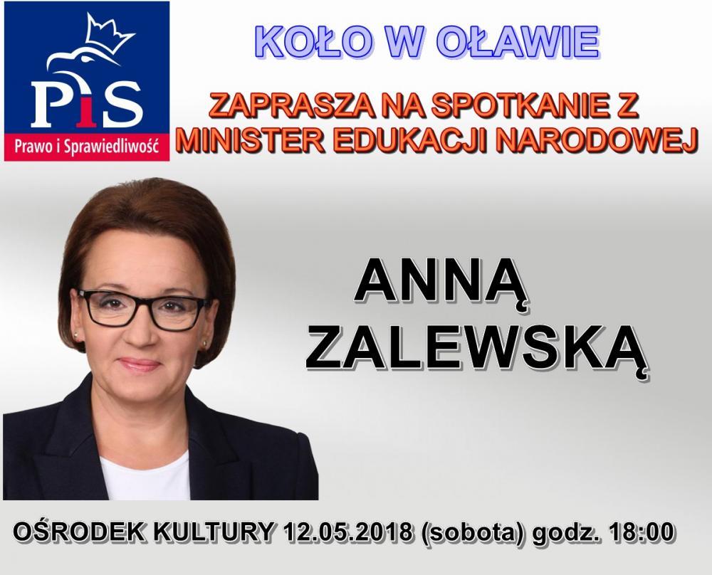 Edukacja, Minister Edukacji Narodowej Zalewska Oławie - zdjęcie, fotografia