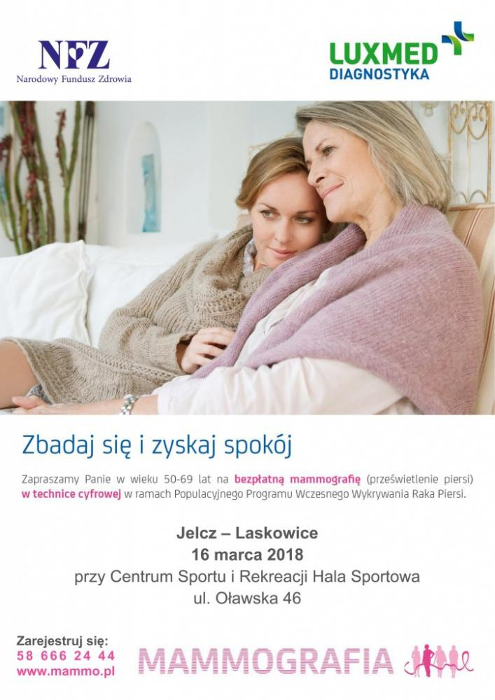 Mieszkańcy, Bezpłatne badanie mammograficzne Jelczu Laskowicach - zdjęcie, fotografia