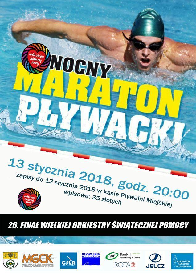 Pływanie, Zapisz Nocny Maraton Pływacki WOŚP - zdjęcie, fotografia