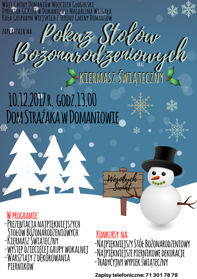 Gmina Domaniów, Pokaz stołów Bożonarodzeniowych Domaniowie - zdjęcie, fotografia