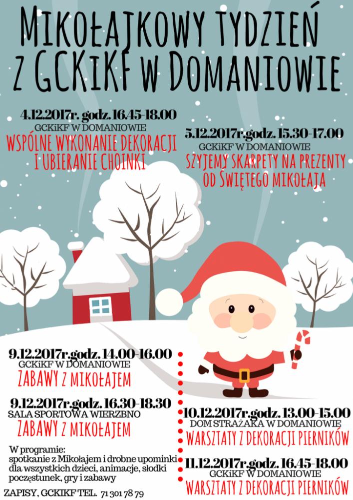 Gmine Centrum Kultury Domaniów, Mikołajkowy tydzień Domaniowie - zdjęcie, fotografia