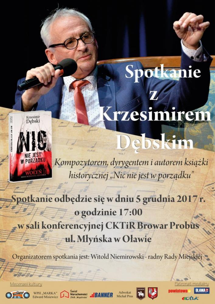 Wernisaże spotkania, Spotkanie Krzesimirem Dębskim - zdjęcie, fotografia