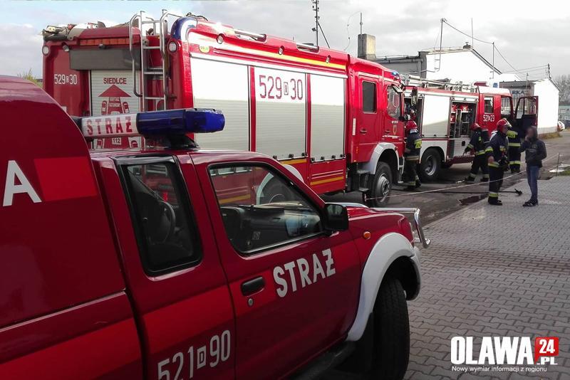 Pożary, Spłonęło podczas rozbiórki - zdjęcie, fotografia