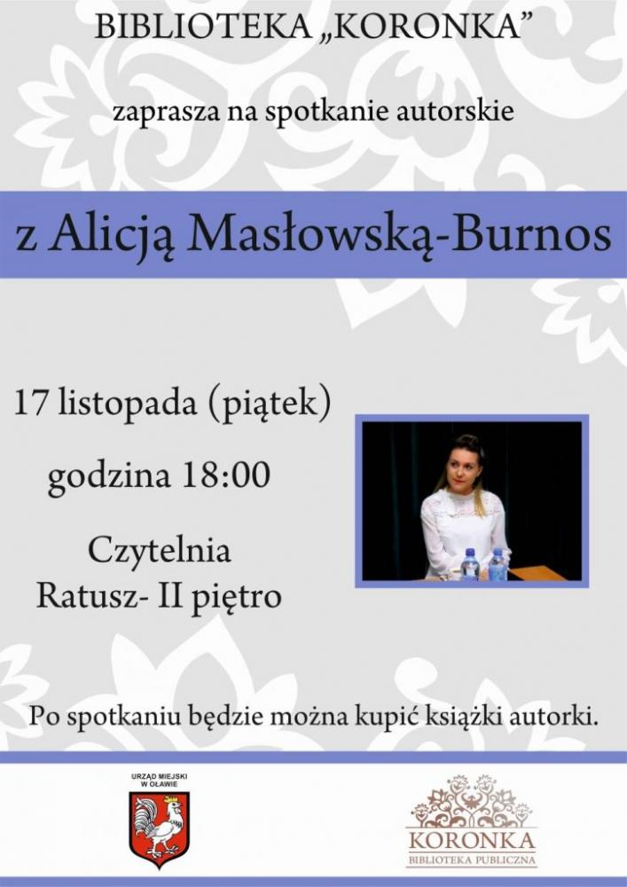 Wernisaże spotkania, Autorskie spotkanie Alicją Masłowską Burnos - zdjęcie, fotografia