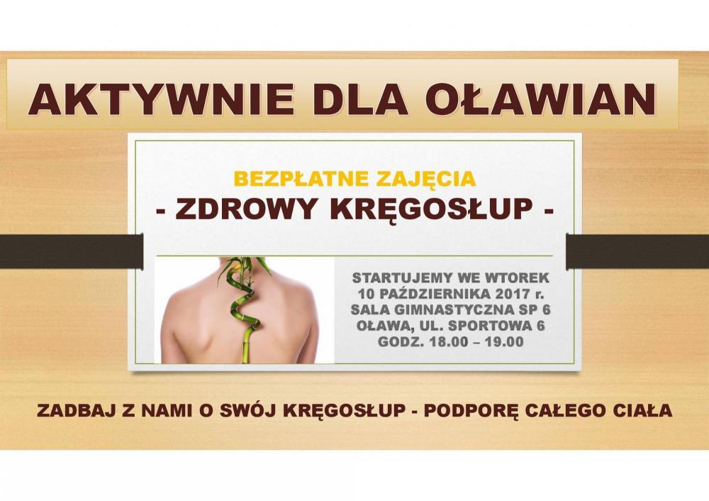 Zdrowie i szpital, Zdrowy kręgosłup ramach zajęć Aktywnie Oławian - zdjęcie, fotografia