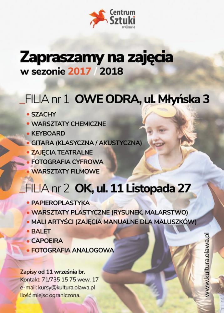 Centrum Sztuki w Oławie, Zapisy kursy Centrum Sztuki - zdjęcie, fotografia