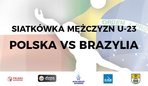 Siatkówka, Siatkarskie święto Jelczu Laskowicach Polska zagra Brazylią - zdjęcie, fotografia