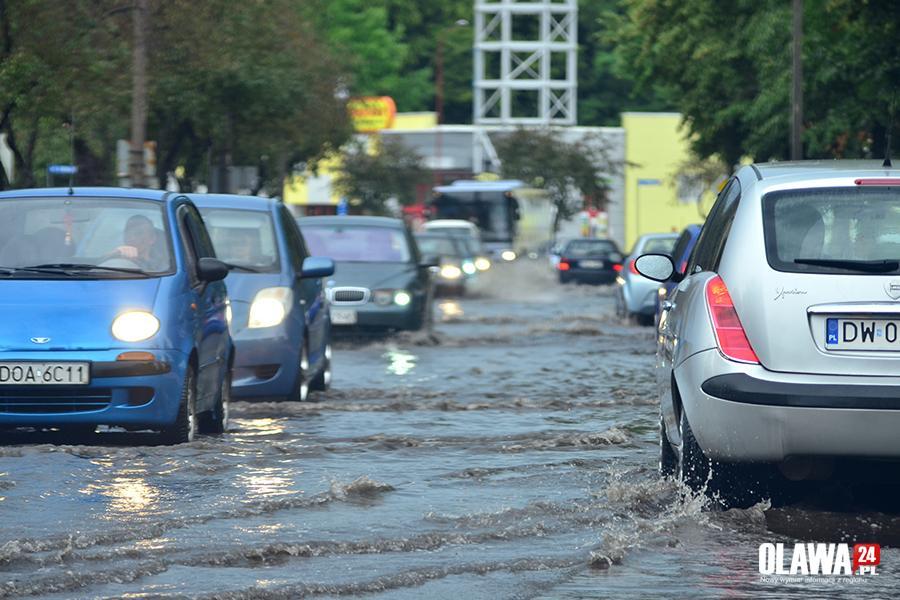 Interwencje, Odprowadzanie deszczowych dróg - zdjęcie, fotografia