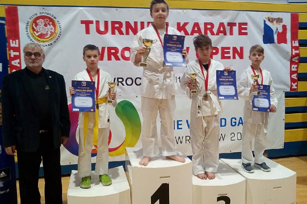 Sztuki walki, Złoto brąz karate - zdjęcie, fotografia